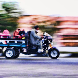 Rush hour by Sean Peters - Transportation Motorcycles ( taxi, motorbike, cairo, giza,  )