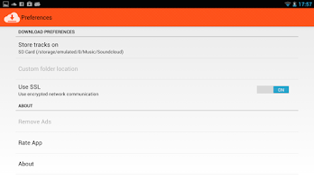 Screenshot of Downloader for SoundCloud