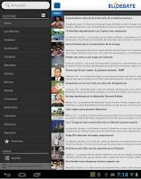 Screenshot of El Debate RSS