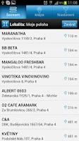 Screenshot of Bezkontaktní platby - Lokátor