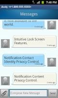 Screenshot of QuickTouch Text Messaging