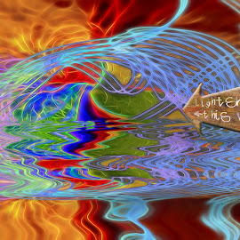 Light Trails by Roy Branford - Abstract Light Painting ( atristic, abstract, light painting, colorful, topaz labs, photoshop )