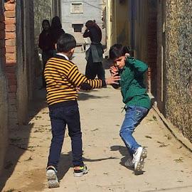 street by Rajesh Dahiya - City,  Street & Park  Street Scenes ( street, road,  )