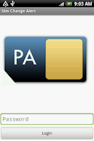 Screenshot of Sim Change Alert