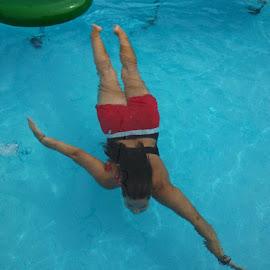 Swimming by Shalimar Rodriguez de Paez - Landscapes Underwater ( water, pool, underwater, me, swimming )