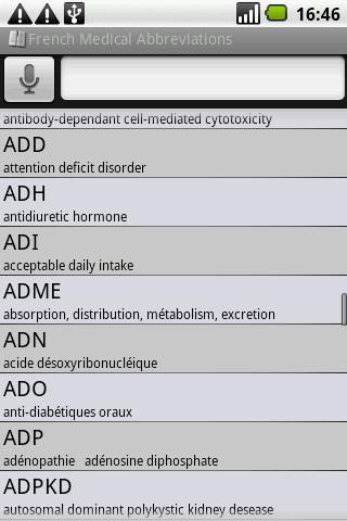 BKS French Medical Acronyms