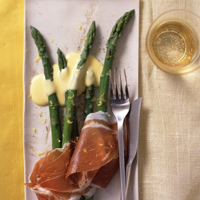 Asparagus with Prosciutto and Lemon Sabayon