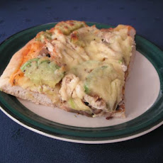 Chicken, Mushroom, and Avocado Pizza