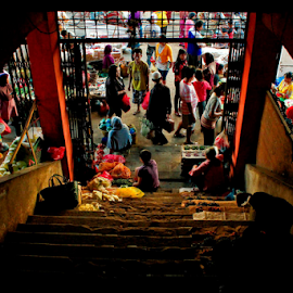 ladder of traditional market by Ronald Wahyudi - City,  Street & Park  Markets & Shops