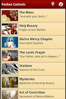Screenshot of Pocket Catholic
