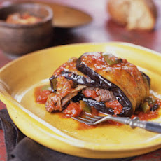 Braised Lamb Shanks Wrapped in Eggplant