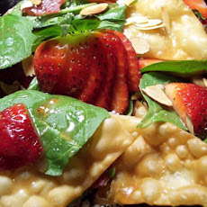 Strawberry Spinach Won Ton Salad