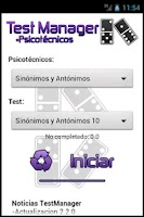 Screenshot of TestManager +Psicotécnicos