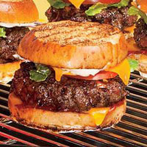Bacon bacon burgers rachael recipes yummly for Blue cheese burger recipe rachael ray