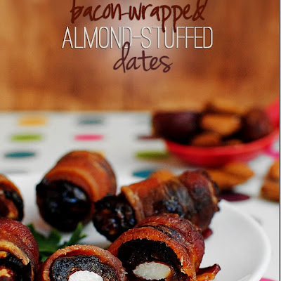 Bacon-Wrapped Almond-Stuffed Dates