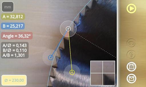 Diskometer - camera measure