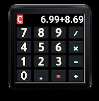 Screenshot of Android Wear Calculator