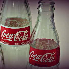 Historic Soda by Leighanna Flora - Artistic Objects Glass ( coca cola, old, lightbox, vintage, glass, bottle )