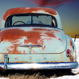 Rusty Chevy by Joerg Schlagheck - Transportation Automobiles ( car, old, green, snow, decay., rust, chevy,  )
