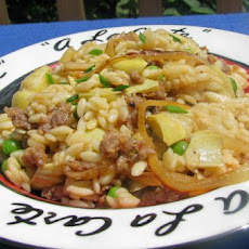 Orzo Risotto With Sausage and Artichokes