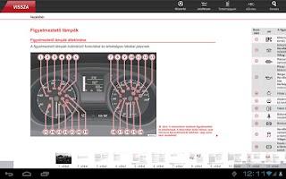 Screenshot of SEAT Digitális kézikönyv
