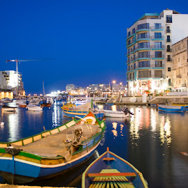 Lovely Malta by Daniel Attard - Transportation Boats ( water, building, malta, reflections, long exposure, boat,  )