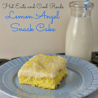 Lemon Angel Snack Cake with Cream Cheese Frosting