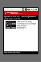 Screenshot of Vivanews.com (unofficial)