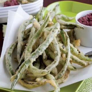 Tempura Green Beans with Tapendade Dip from 'Salty Snacks'