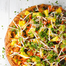 Thai Tofu Pizza with Spicy Peanut Sauce
