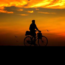Lonely journey by Tharmapalan Tilaxan - Digital Art People