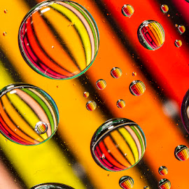 color explosion by Betsy Wilson - Abstract Water Drops & Splashes ( orange, circles, water drops, colorful water, water droplets )