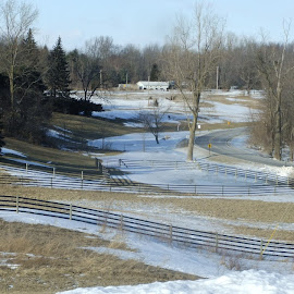 A Winter's Day by Judy Soper - Novices Only Landscapes ( winter, snow, fences, landscape, curves )