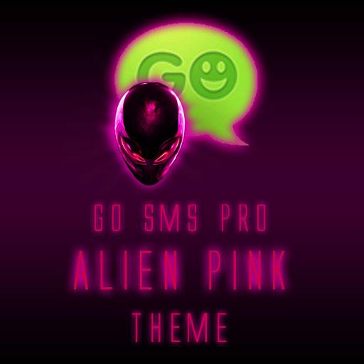 GO SMS Pro Alien Pink theme LOGO-APP點子