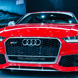 Front view of Audi RS 7 by Ajay Chandran - Transportation Automobiles ( car, audi, red, elegance, elegant, beautiful, reddish )