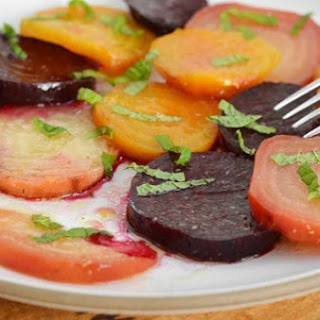 Roasted Beets with Cumin, Lime, and Mint