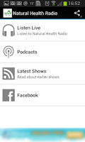 Screenshot of Natural Health Radio App
