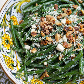 Green Beans With Blue Cheese & Toasted Walnuts