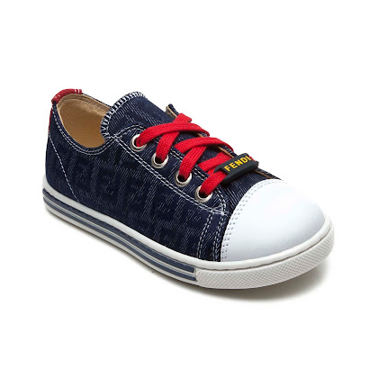 Fendi Denim Lace Ups LACE- UP