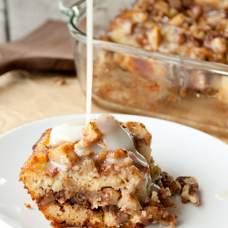 Grain Free Spiced Apple Coffee Cake with Caramel Sauce Recipe | Yummly