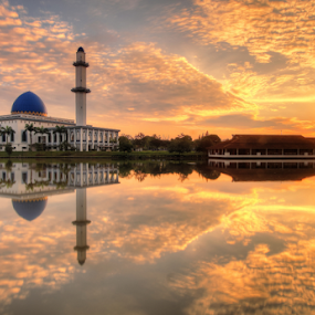 Sunrise of Uniten Mosque by Saya Serin - Landscapes Sunsets & Sunrises (  )