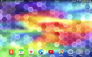 Screenshot of Galaxy S5 HEX Live Wallpaper