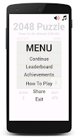 Screenshot of 2048 Swipe Puzzle