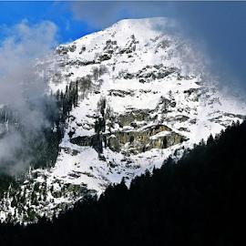 A Snow Peak 2 by Sutanu Mukherjee - Landscapes Mountains & Hills ( mountain, indian, kashmir, snowy, himalayas,  )