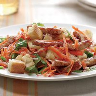 Pan-Fried Pork Salad with Pickled Carrots and Radishes