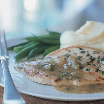 Turkey Cutlets with Herbed Pan Gravy