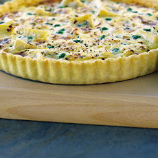 Pea, Pancetta And Soft Cheese Tart