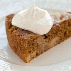 Low-Fat Spice Cake with Maple Cream