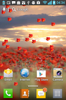 Screenshot of Petals Live Wallpaper