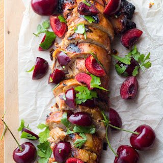 GRILLED CHIPOTLE PORK TENDERLOIN WITH FRESH CHERRY SALSA